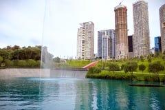 Parque La Mexicana,墨西哥公园,湖 免版税图库摄影