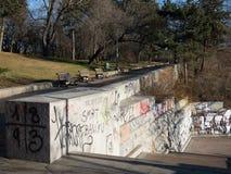 Parque Letna e grafittis, Praga Fotografia de Stock Royalty Free