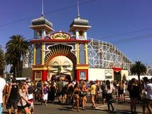 Parque lunar en St Kilda Festival en Melbourne fotografía de archivo