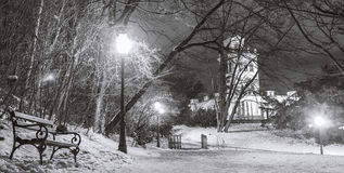 Parque Maksimir Zagreb da cidade, inverno Fotografia de Stock