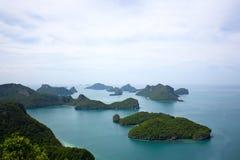 Parque marinho nacional da tanga do ANG, Tailândia fotos de stock