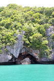 Parque marinho nacional da tanga do ANG, Tailândia foto de stock royalty free