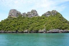 Parque marinho nacional da tanga do ANG, Tailândia foto de stock