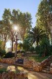 Parque mediterrâneo Imagem de Stock Royalty Free