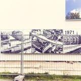 Parque memorável de Berlin Wall em Bernauer Straße, Mitte, Berlim, Alemanha Imagem de Stock