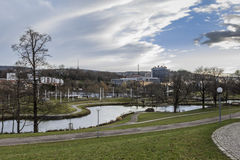 Parque Mittlere Schlossgarten Stuttgart Alemania Fotografía de archivo