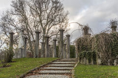 Parque Mittlere Schlossgarten Stuttgart Alemania Imagen de archivo