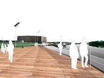 Parque moderno Ilustração Royalty Free