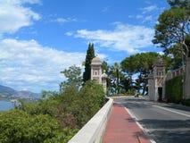 Parque, Monte Carlo, Mónaco Fotografía de archivo libre de regalías