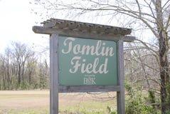 Parque municipal Oakland Tennessee del campo de Tomlin Imagen de archivo libre de regalías