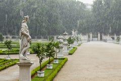 Parque na chuva de derramamento Imagem de Stock Royalty Free