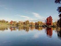 Parque na estação do outono Imagens de Stock Royalty Free