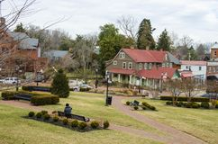Parque na frente da casa do estado de Maryland Imagens de Stock