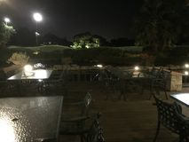 Parque na noite Foto de Stock