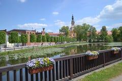 Parque na salsicha tipo frankfurter no Oder Fotografia de Stock Royalty Free