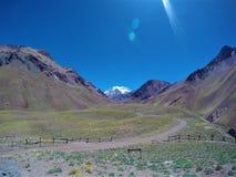 Parque Nacional Аконкагуа в Mendoza, Аргентине Стоковое Изображение