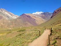 Parque Nacional Аконкагуа в Mendoza, Аргентине Стоковое фото RF