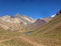 Parque Nacional Aconcagua in Mendoza, Argentina fotografia stock