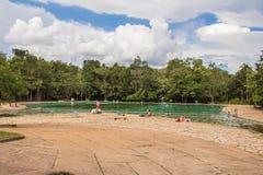 Parque Nacional Agua Mineral. Natural Pool. Parque Nacional Agua Mineral. Brasilia, Brazil stock photography