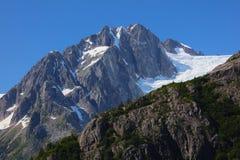 Parque nacional Alaska de los fiordos de Kenai de la montaña y del glaciar Foto de archivo libre de regalías