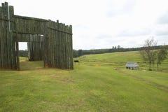 Parque nacional Andersonville ou acampamento Sumter, um local histórico nacional em Geórgia, local da prisão confederada e do cem foto de stock