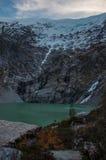 Parque Nacional av Queulat, Austral Carretera, huvudväg 7, Chile Arkivfoto
