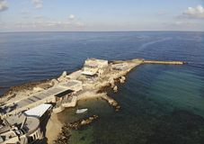 Parque nacional Caesarea Fotografia de Stock