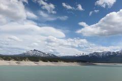 Parque nacional Canadá de banff do lago Abraham da montanha Imagens de Stock Royalty Free