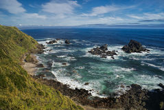 Parque Nacional Chiloe. Panoramic view of the coast in Parque Nacional Chiloe stock photo