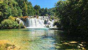 Parque nacional Croacia de Krka almacen de metraje de vídeo