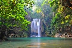 Parque nacional da cachoeira de Erawan Imagens de Stock