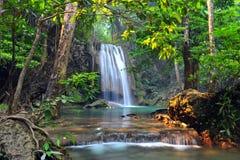 Parque nacional da cachoeira de Erawan Foto de Stock Royalty Free