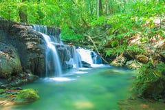 Parque nacional da cachoeira de Erawan Fotografia de Stock Royalty Free