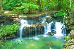 Parque nacional da cachoeira de Erawan Imagem de Stock Royalty Free