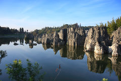 Parque nacional da floresta de pedra de Shilin Imagens de Stock Royalty Free