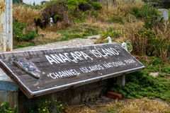 Parque nacional da ilha de Anacapa fotografia de stock royalty free