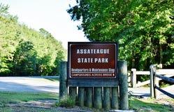 Parque nacional da ilha do assateague dos EUA do estado de Maryland imagens de stock