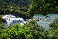 Parque nacional das cachoeiras de Krka Fotografia de Stock