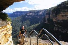 Parque nacional das montanhas azuis, NSW, Austrália Imagem de Stock