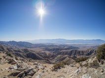 Parque nacional de árvore de Joshua Opinião das chaves Falha de San Andreas Foto de Stock Royalty Free