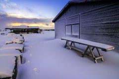 Parque nacional de Þingvellir (soletrado às vezes como Pingvellir ou Thingvellir), Islândia Imagem de Stock