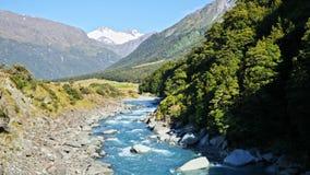 Parque nacional de aspiración del soporte, Nueva Zelanda almacen de metraje de vídeo