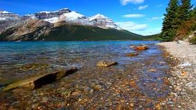 Parque nacional de Banff do lago bow video estoque
