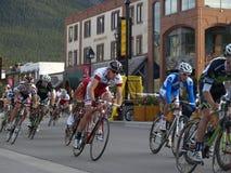 Parque nacional de Banff más bikefest Foto de archivo libre de regalías