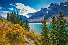 Parque nacional de Banff nas Montanhas Rochosas canadenses Fotos de Stock Royalty Free