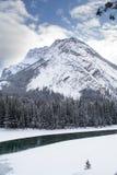 Parque nacional de Banff no inverno Fotografia de Stock Royalty Free