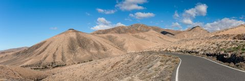 Parque nacional de Betancuria, Fuerteventura, islas Canarias Imágenes de archivo libres de regalías