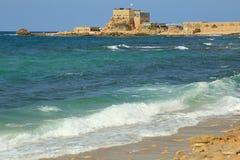 Parque nacional de Caesarea Imagem de Stock Royalty Free
