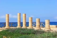 Parque nacional de Caesarea Maritima, Israel Fotos de archivo libres de regalías
