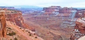Parque nacional de Canyonlands en invierno Foto de archivo libre de regalías